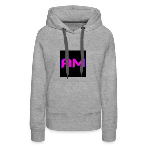 Pink, Blue, and black LOGO - Women's Premium Hoodie