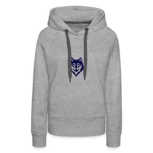 9a45729d3404bccd07a3281e8b3a12ec wolf stencil wol - Women's Premium Hoodie