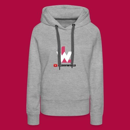 Logo on Grey Sport - Women's Premium Hoodie