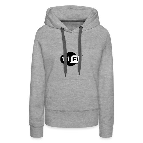WiFi Logo svg - Women's Premium Hoodie