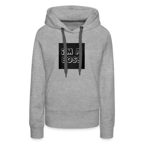 Im A Boss Black Logo - Women's Premium Hoodie