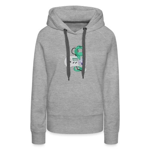 nessamonsta logo snes - Women's Premium Hoodie