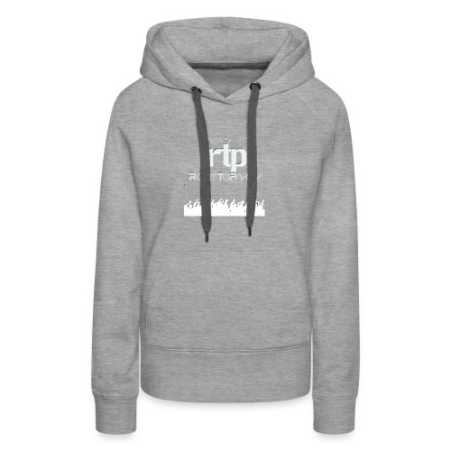 RTP Crowd LOGO White - Women's Premium Hoodie