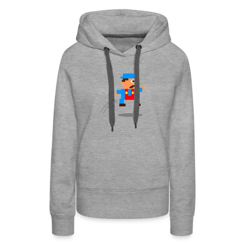 Blue Guy Jumping - Women's Premium Hoodie