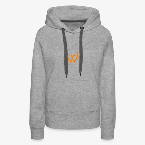 orange vectorized - Women's Premium Hoodie