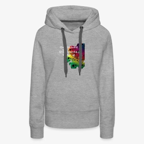 Get Inked - Rainbow Skull - Women's Premium Hoodie