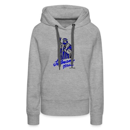 Brewery Gambrinus logo blue - Women's Premium Hoodie