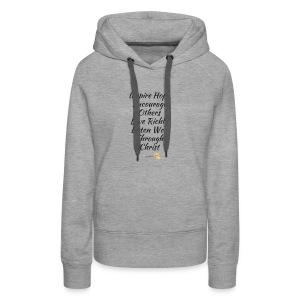 Inspire Hope motto kitty - Women's Premium Hoodie
