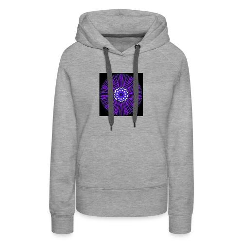 Feathery purple mandala - Women's Premium Hoodie