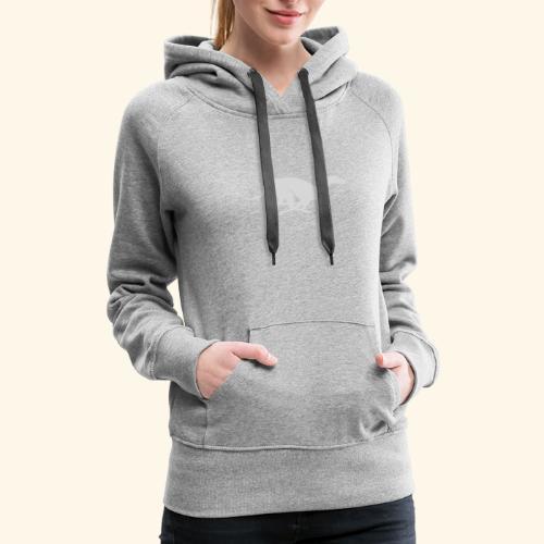 Light Grey Running Greyhound - Women's Premium Hoodie