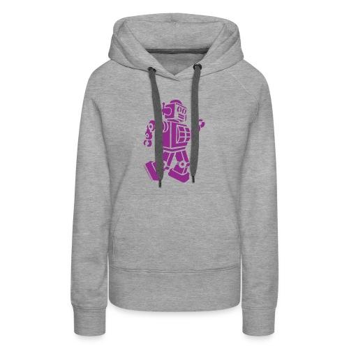 Dancing Robot #2 Purple - Women's Premium Hoodie