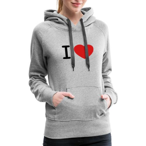 I Love (what you love in here) Insert your text. - Women's Premium Hoodie