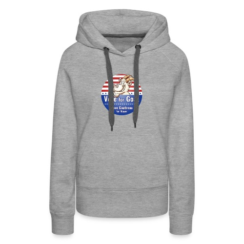 Vote for Goat Button Design - Women's Premium Hoodie
