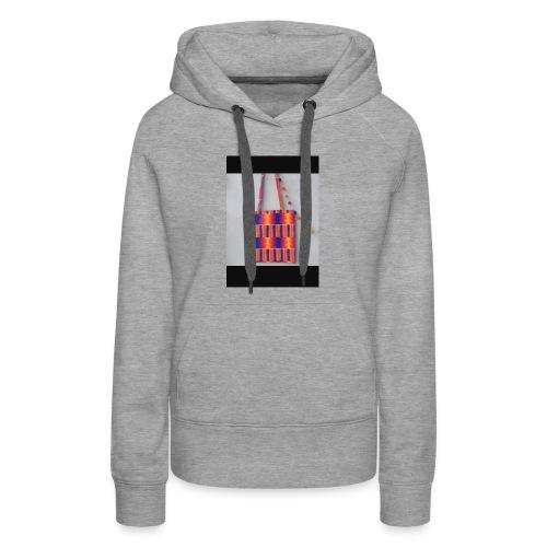 ANKARA TOTE BAG DESIGN - Women's Premium Hoodie