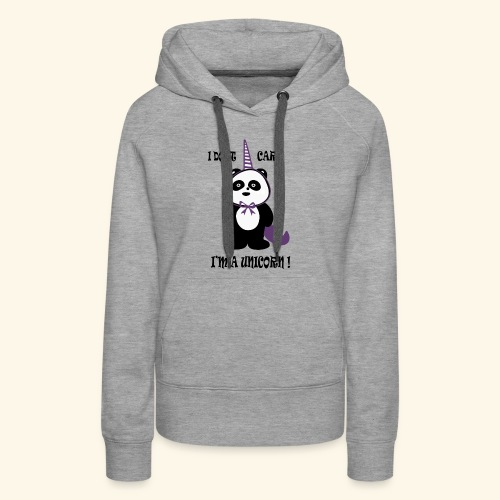 Limited Edition T-Shirt : PandaCorn - Women's Premium Hoodie