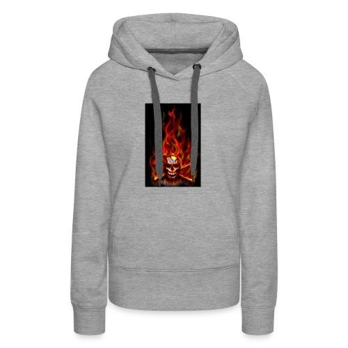 red fire skull - Women's Premium Hoodie