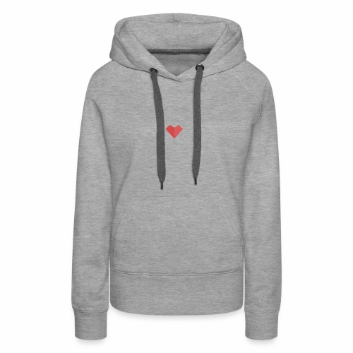 a loving heart on your clothing - Women's Premium Hoodie