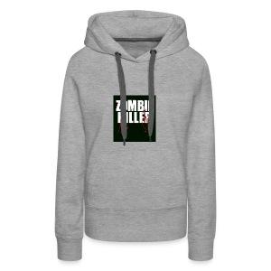 zombie killer shirt green - Women's Premium Hoodie