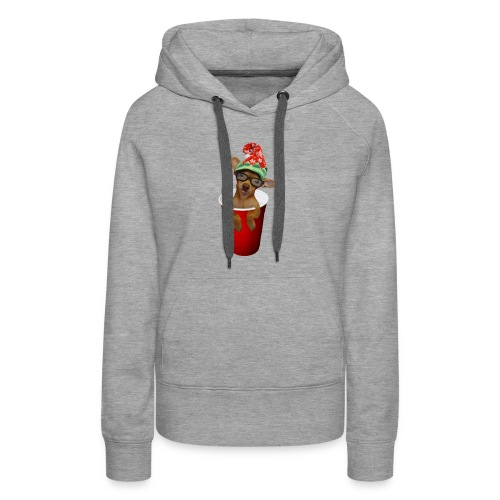 Pup in a cup Elf on the shelf who? lol - Women's Premium Hoodie