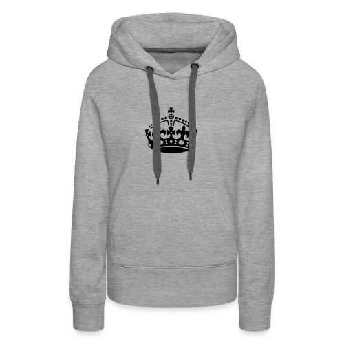 13625877091416650323keep calm crown hi - Women's Premium Hoodie