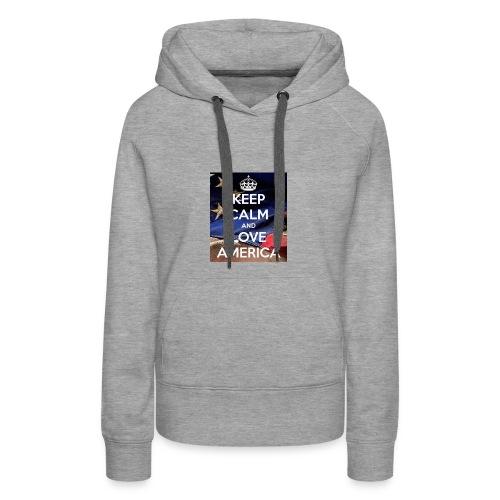 Keep calm and love America - Women's Premium Hoodie