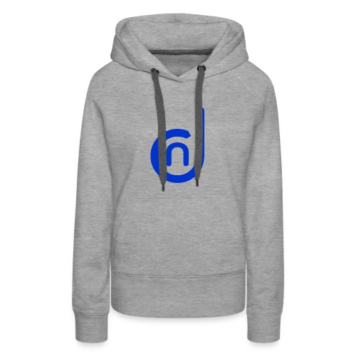 DCN (Direct Cannabis Network Logo -Blue) - Women's Premium Hoodie