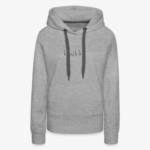 Koukla Black Logo - Women's Premium Hoodie