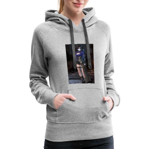 SkullyGirl Darkness Rises Character - Women's Premium Hoodie
