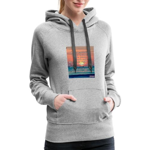 Live Life to the Fullest motto - Women's Premium Hoodie