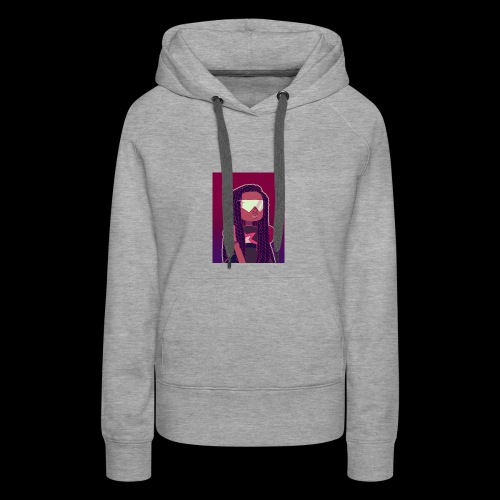 Garnet girl with Twists - Women's Premium Hoodie