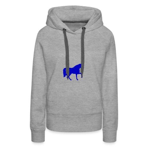 blue horse hoodie - Women's Premium Hoodie