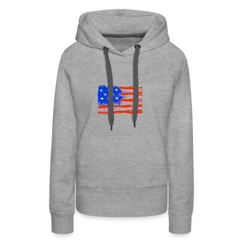 US Flag Flowing Stripes - Women's Premium Hoodie