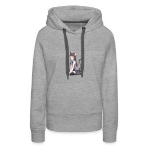 Anime Cat Lady - Women's Premium Hoodie