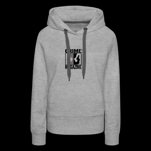 CRIME SYNDIATE MAGAZINE LOGO (No Background) - Women's Premium Hoodie