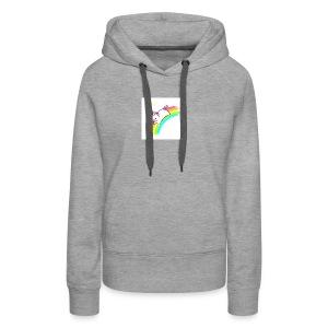 tumblr static sparkly unicorn no tag - Women's Premium Hoodie