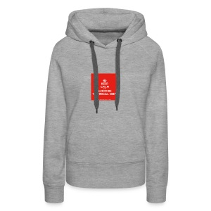 KeepCalm red and white edition - Women's Premium Hoodie