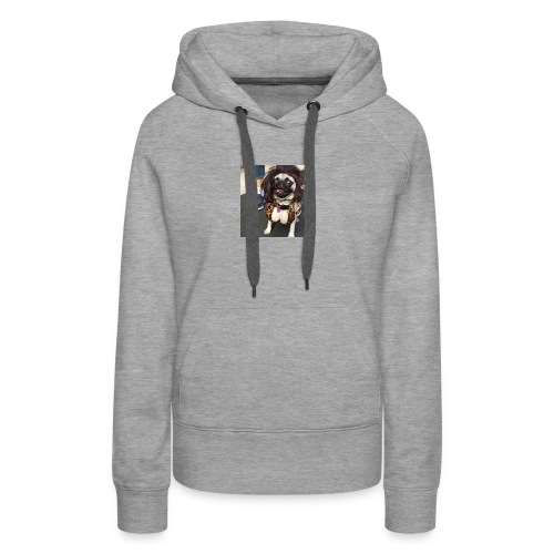 Chloe as Snooki Pug - Women's Premium Hoodie