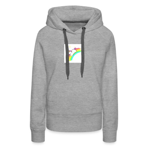 tumblr static sparkly unicorn no tag - Women's Premium Hoodie