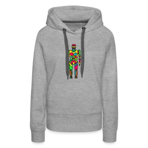 Cartoon Robocop in Color - Women's Premium Hoodie