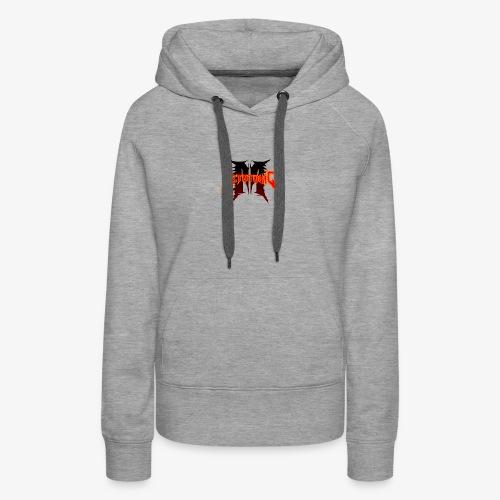 Metatoxic over Logo - Women's Premium Hoodie