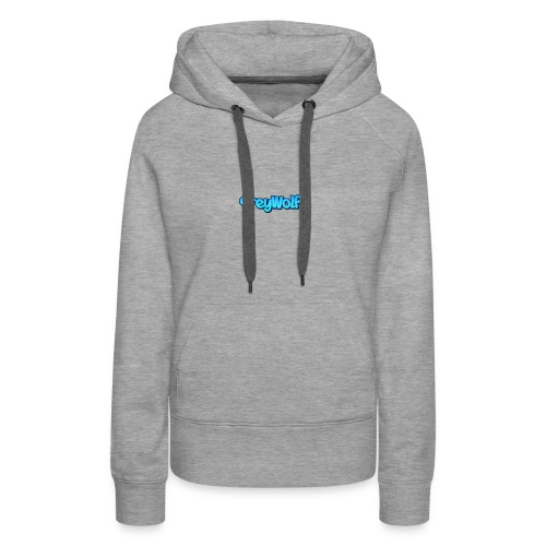 TEXT of GreyWolf - Women's Premium Hoodie
