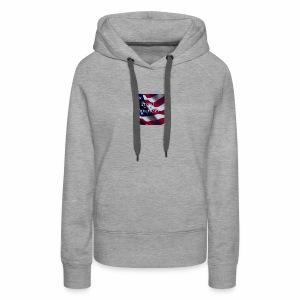 770764ed8cfed391ab7ad85ff8b8f2bb american flag am - Women's Premium Hoodie