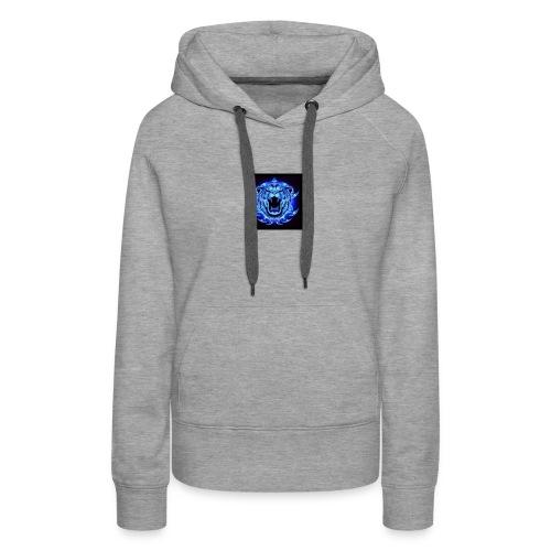 Blue Neon Tiger - Women's Premium Hoodie