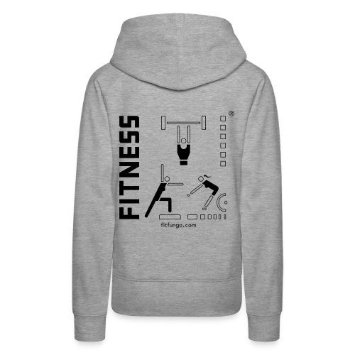 Logo_FitFunGo ! hummel - Women's Premium Hoodie
