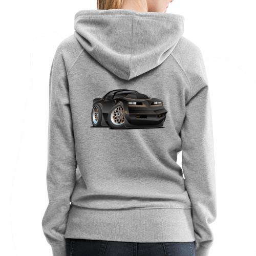 Seventies Classic Muscle Car Cartoon - Women's Premium Hoodie