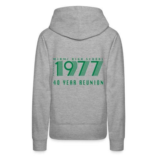 Miami 77 Green Logo - Women's Premium Hoodie