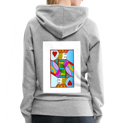 Jack of Hearts by Eliot Raffit - Women's Premium Hoodie