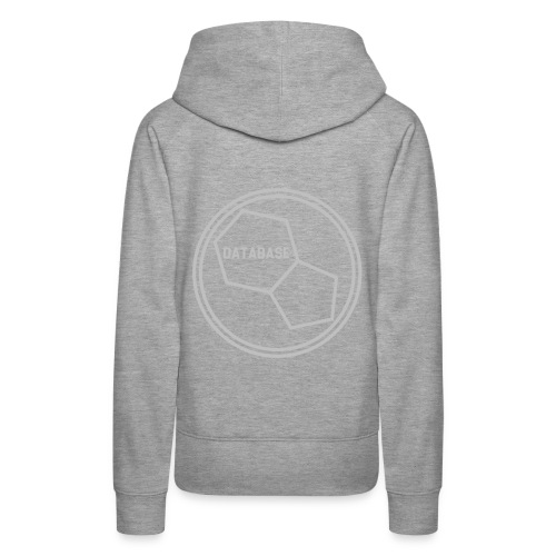 DATABASE [Light Grey] - Women's Premium Hoodie