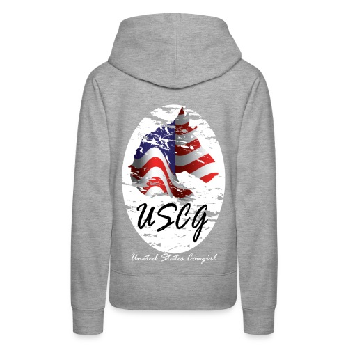 United States Cowgirl Shirts - Women's Premium Hoodie
