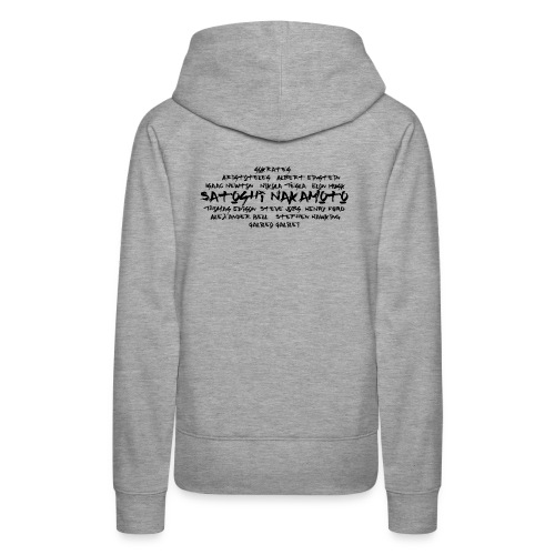 Satoshi Nakamoto Bitcoin and other inventors - Women's Premium Hoodie